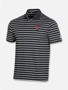 "Texas Tech Red Raiders Under Armour ""Wordmark"" Striped Polo"