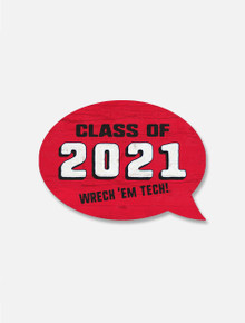 Texas Tech Red Raiders Class of 2021 Wooden Magnet