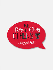 "Texas Tech Red Raiders ""Rise by Lifting"" Magnet"