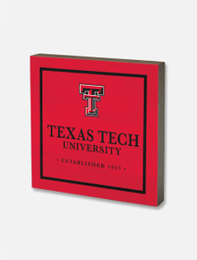 Texas Tech Red Raiders Square Wood Block Decor