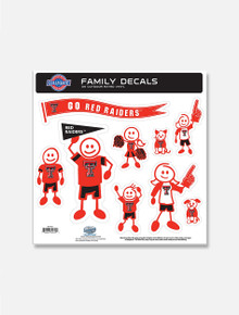Texas Tech Red Raiders Family Decal Sheet