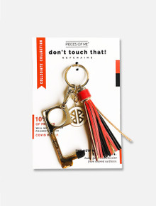 Texas Tech Red Raiders Don't Touch that! Red and Black Tassel Key Chain