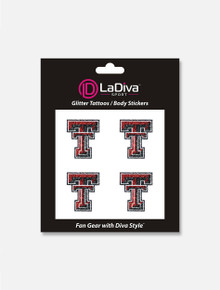 Texas Tech Red Raiders Glitter Double T Face Tattoos 4 Pack