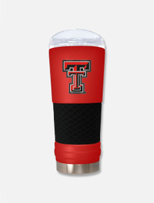 "Texas Tech Red Raiders ""The Draft"" 24oz Travel Tumbler in Red"
