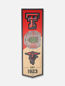 Texas Tech Red Raiders Wall Hanging of Jones AT&T Stadium