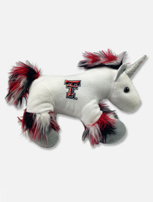 "Texas Tech Red Raiders ""Fuzzy Unicorn"" in Red & Black Plush Toy"