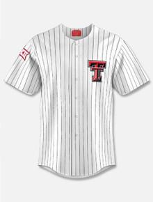 Texas Tech Red Raiders Pinstripe Baseball Replica Jersey