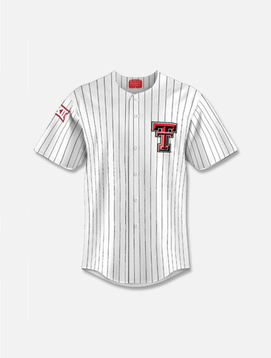 Texas Tech Red Raiders YOUTH Pinstripe Replica Baseball Jersey