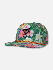 """Imperial Texas Tech Red Raiders """"Island Time"""" Orange Cord Double T Snapback Cap"""