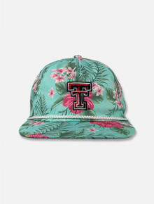 """Imperial Texas Tech Red Raiders """"Maui"""" White Cord Double T Snapback Cap"""