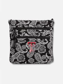 Vera Bradley Texas Tech Red Raiders Paisley Triple Zip Hipster Bag