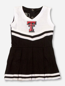 Texas Tech Double T on INFANT Black Cheerleading Outfit Onesie