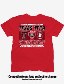 Texas Tech Red Raiders Baseball 2021 Super Regional Red T-Shirt