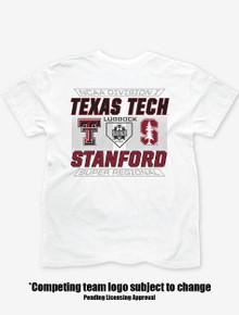 Texas Tech Red Raiders Baseball 2021 Super Regionals White T-Shirt