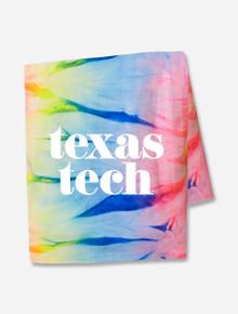 "Texas Tech Red Raiders ""Pristine"" on Tie Dye Sweatshirt Blanket"
