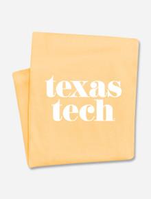 "Texas Tech Red Raiders ""Pristine"" Sunglow Sweatshirt Blanket"