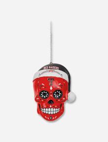 Texas Tech Red Raiders Sugar Skull Ornament