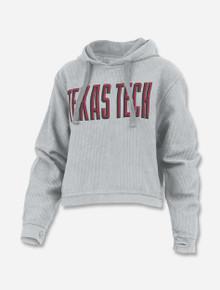 "Pressbox Texas Tech Red Raiders Hooded ""Sawyer"" Long Sleeve Corded Crop"