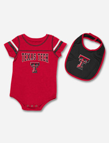 "Arena Texas Tech Red Raiders ""Chocolate"" Infant Onesie and Bib Set"