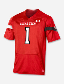 """Texas Tech Red Raiders Under Armour """"Sideline 2021 #1"""" Football Jersey"""