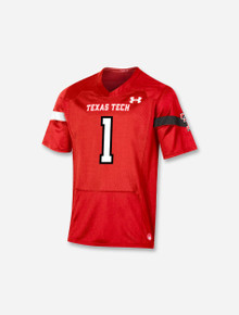 """Texas Tech Red Raiders Under Armour YOUTH """"Sideline 2021 #1"""" Football Jersey"""