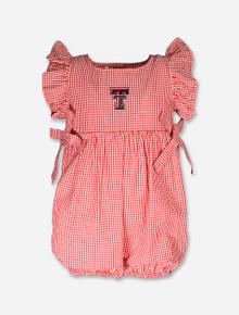 "Texas Tech Red Raiders Infant ""Jada"" Gingham Romper"