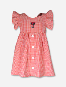 "Texas Tech Red Raiders Toddler ""Jada"" Gingham Dress"