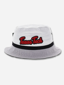 Texas Tech Red Raiders Script with Black Ribbon Bucket Hat