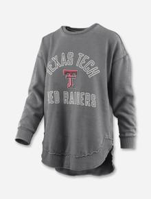 """Press Box Texas Tech Red Raiders """"Rockford"""" Vintage Poncho Fleece"""