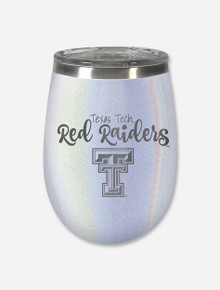 Texas Tech Red Raiders Opal Double Walled Travel Stemless Wine Glass
