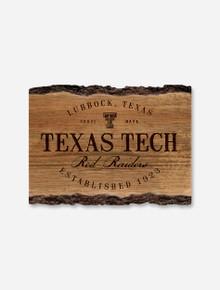 "Texas Tech Red Raiders Wood ""Barky Sign"" Est. 1923"