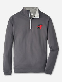 """Peter Millar Texas Tech Red Raiders """"Horse and Rider"""" Solid Perth Quarter Zip"""