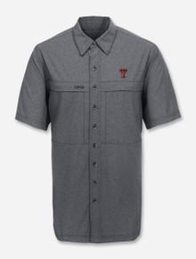 "GameGuard Texas Tech Red Raiders Double T ""Caviar MicroTek"" Short Sleeve Dress Shirt"