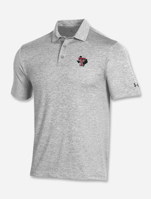 """Texas Tech Red Raiders Under Armour """"Goal Line"""" Playoff 2.0 Heather Polo"""