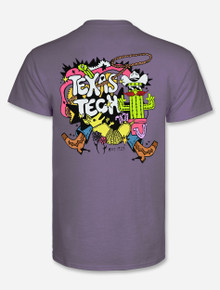 """Texas Tech Red Raiders """"Psychedelic Wild West"""" T-shirt back"""