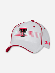 """Texas Tech Red Raiders Under Armour Sideline 2021 """"Road Game"""" Blitzing Accent Adjustable Hat"""
