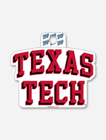"""Texas Tech Red Raiders Stacked """"Double Space"""" Decal"""