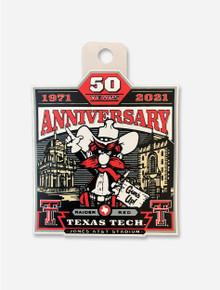 Texas Tech Red Raiders Vintage Raider Red 50th Anniversary Decal