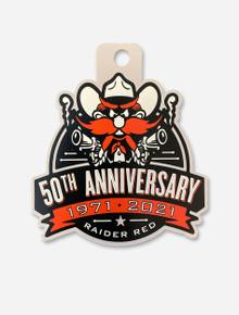 Texas Tech Red Raiders Raider Red  50th Anniversary Decal