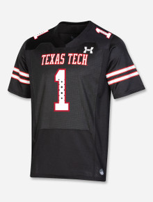 """Texas Tech Red Raiders Under Armour 2021 Sideline """"Throwback"""" Football Jersey"""