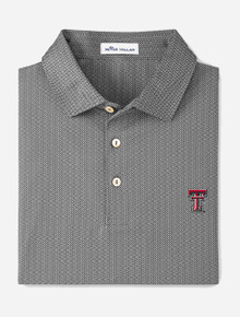 """Texas Tech Red Raiders Peter Millar """"JAMM"""" Printed Geo Stretch Jersey Polo"""