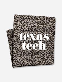 "Texas Tech Red Raiders ""Pristine"" on Leopard Sweatshirt Blanket"