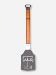 Texas Tech Red Raiders & Cutout Double T on Wood & Metal Spatula