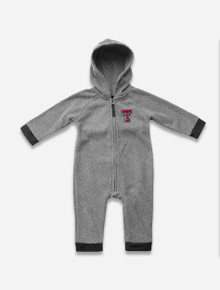 """Arena Texas Tech Red Raider """"Boys Ready""""INFANT Hooded Onesie Romper"""