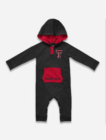 """Arena Texas Tech Red Raiders """"Henry"""" INFANT Romper With Hoodie"""