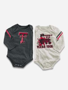 "Arena Texas Tech Red Raiders ""EM"" INFANT Long Sleeve Onesie 2-Pack"