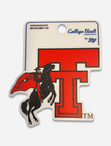 Texas Tech Red Raiders Vault Double T with Horse and Rider Decal