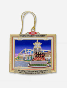 """Texas Tech Red Raiders 2021 """"Sports Performance Center"""" 25th Official Ornament"""