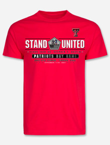 """Texas Tech Red Raiders """"Stand United"""" 2021 Patriots Day Game Official T-Shirt in Red"""
