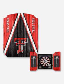 Texas Tech Red Raiders Dartboard Cabinet Dart Cabinet